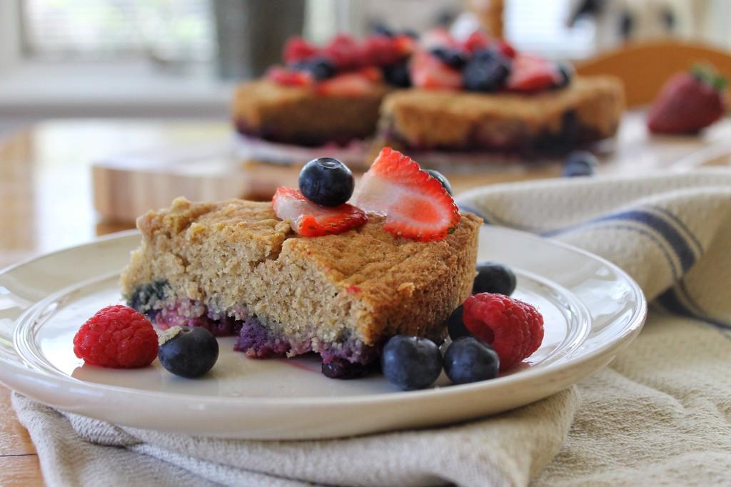 Cornmeal Berry Cake Gluten Free