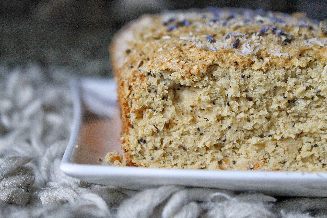 Gluten Free Lavender Poppy Loaf