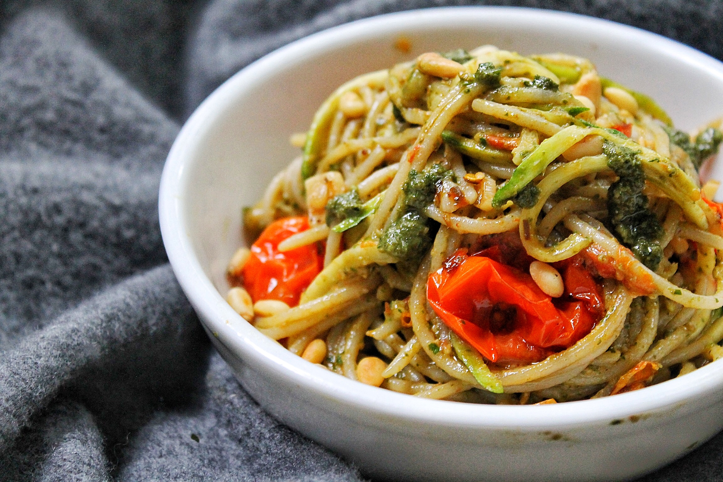Roasted Tomato, Pesto and Pine Nut Gluten Free Pasta