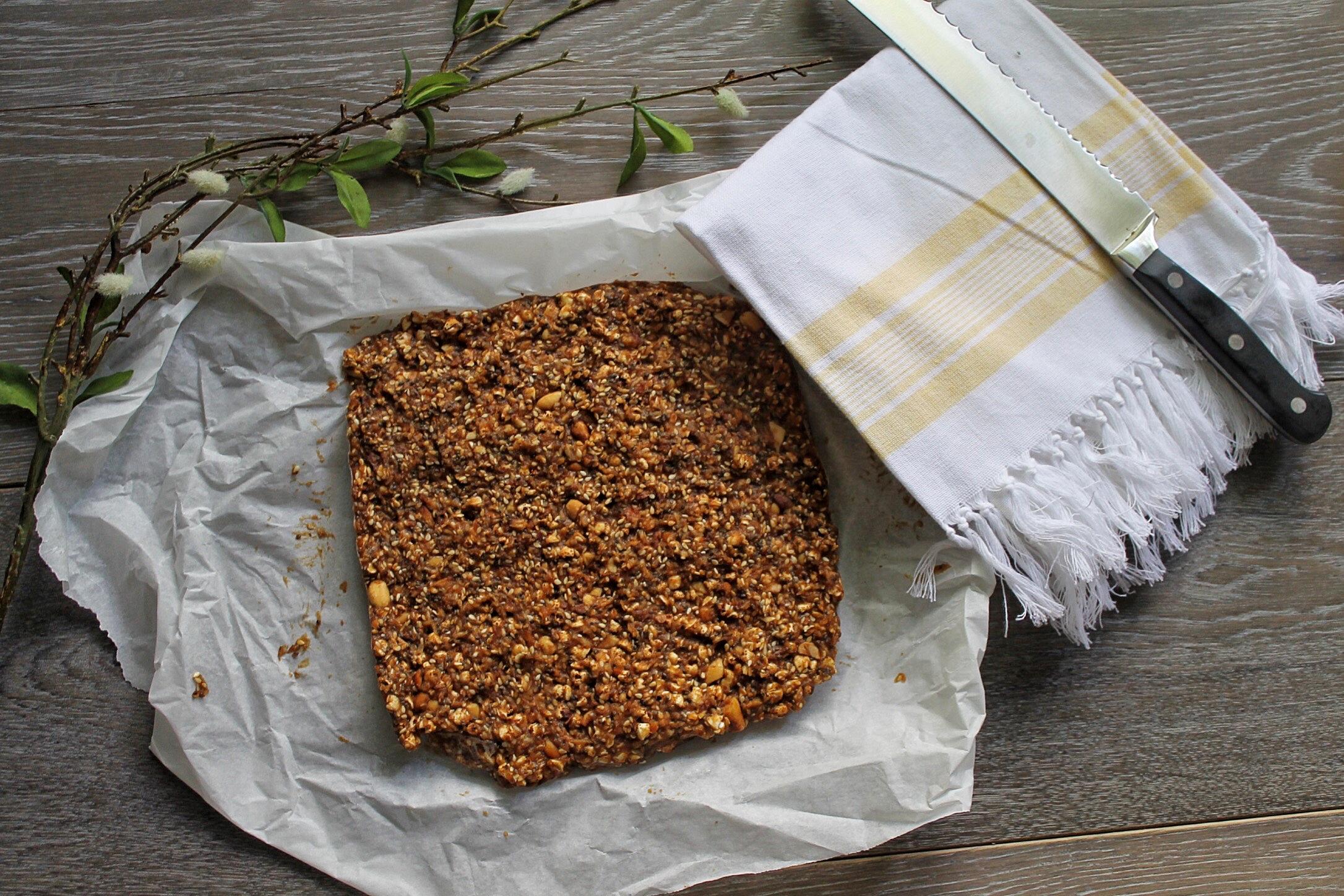 Sesame Peanut Chewy Bars