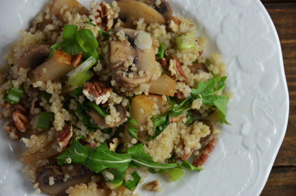 Arugula Pear and Quinoa Salad