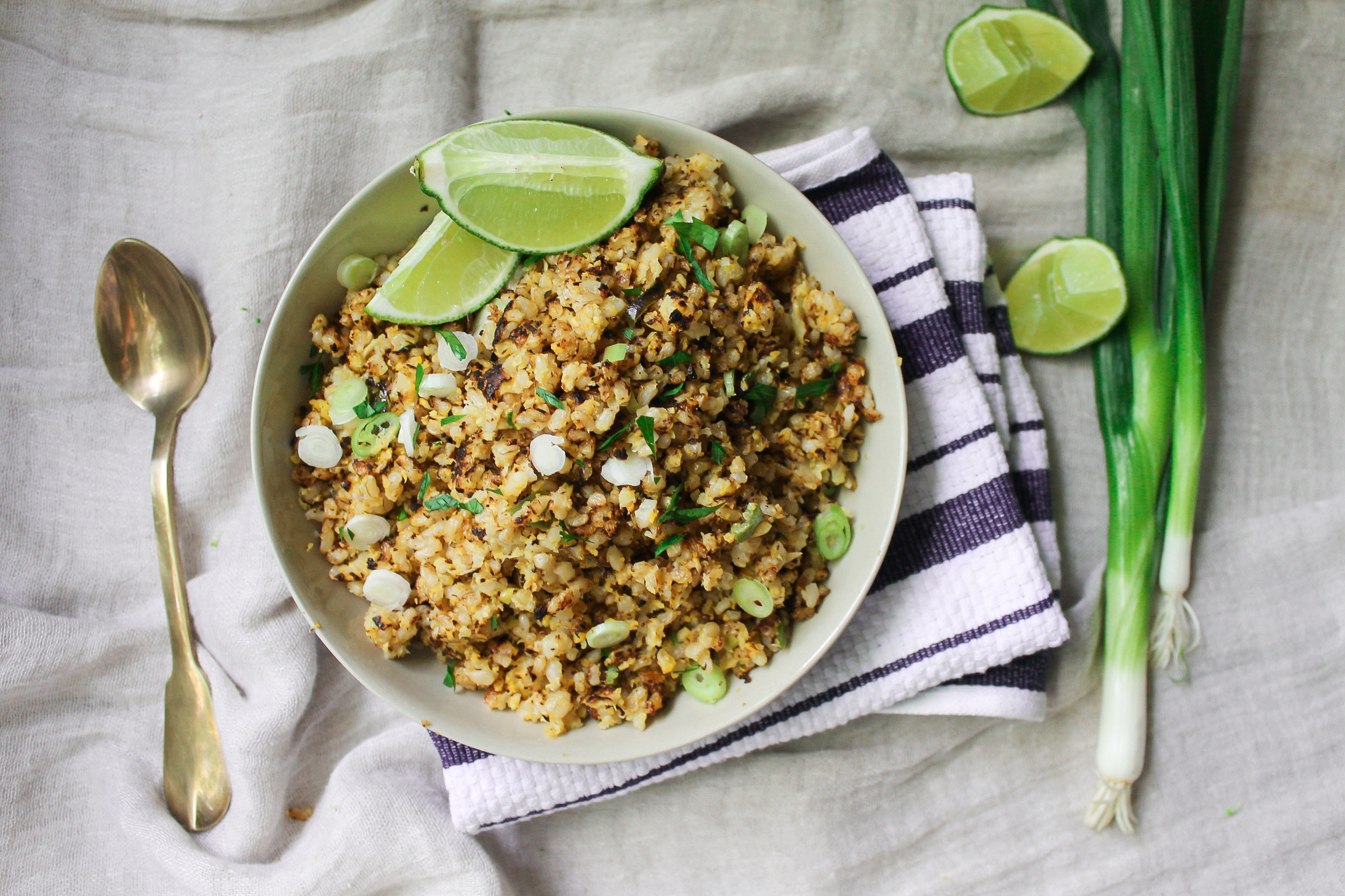Crispy Cauliflower Brown Rice